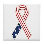 Patriotic Ribbon #2 Tile Coaster