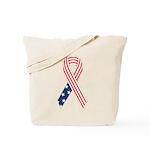 Patriotic Ribbon #2 Tote Bag