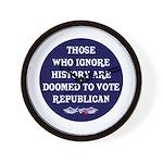 IGNORE HISTORY VOTE REPUBLICA Wall Clock