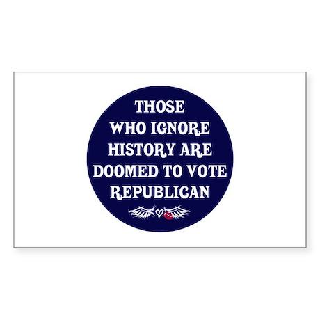 IGNORE HISTORY VOTE REPUBLICA Sticker (Rectangular