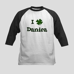 I Shamrock Danica Kids Baseball Jersey