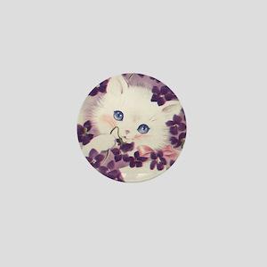 Lavender Kitten Mini Button
