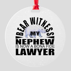 lawyer nephew Round Ornament