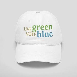 Live Green Vote Blue Baseball Cap