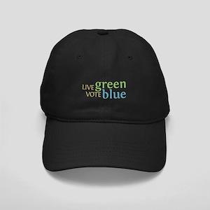 Live Green Vote Blue Baseball Cap (Black)