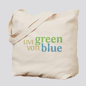 Live Green Vote Blue Tote Bag