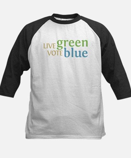 Live Green Vote Blue Kids Baseball Jersey