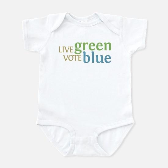 Live Green Vote Blue Infant Bodysuit