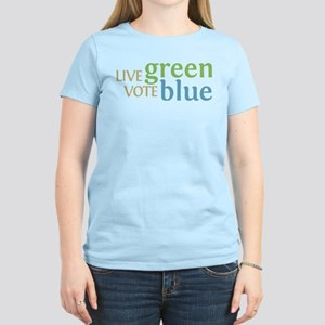 Live Green Vote Blue Women's T-Shirt (Light)