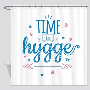 time to hygge Shower Curtain