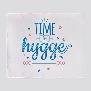 time to hygge Throw Blanket
