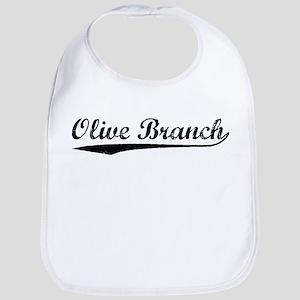 Vintage Olive Branch (Black) Bib