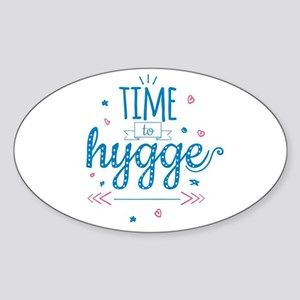 time to hygge Sticker
