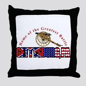 Gettysburg - Home Of The The Throw Pillow