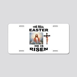 JESUS IS RISEN Aluminum License Plate
