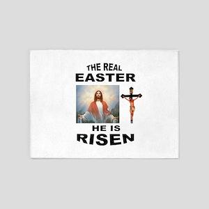 JESUS IS RISEN 5'x7'Area Rug