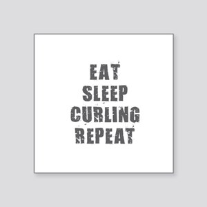 Eat Sleep Curling Sticker