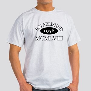 Established 1958 -- Happy Birthday Light T-Shirt