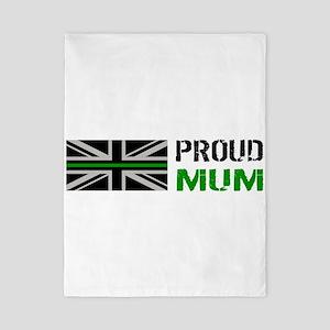 British Flag Green Line: Proud Mu Twin Duvet Cover