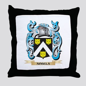 Nobels Coat of Arms - Family Crest Throw Pillow