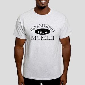 Established 1952 -- Happy Birthday Light T-Shirt