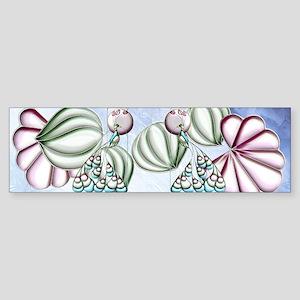 Harvest Moons Art Nouveau Peacock Bumper Sticker