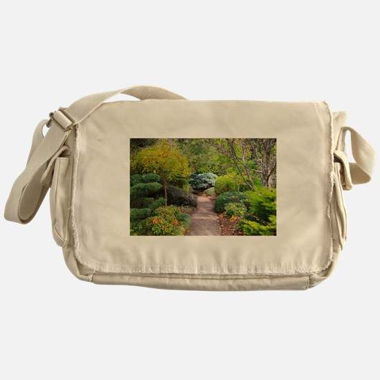 Path to tranquility Messenger Bag