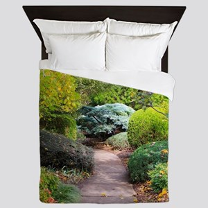 Path to tranquility Queen Duvet
