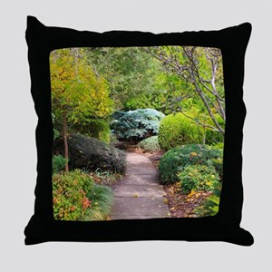 Path to tranquility Throw Pillow