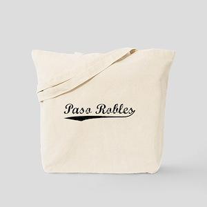 Vintage Paso Robles (Black) Tote Bag