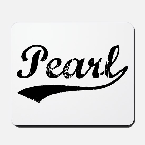 Vintage Pearl (Black) Mousepad