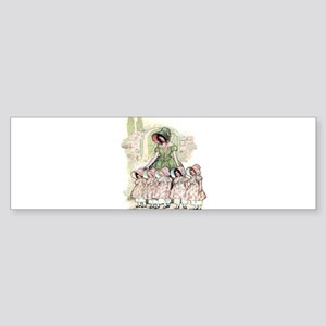 FIVE PRETTY MAIDS IN A ROW Bumper Sticker