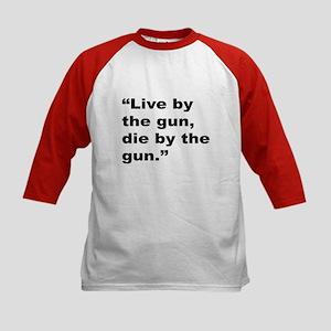 Rap Culture Gun Quote (Front) Kids Baseball Jersey