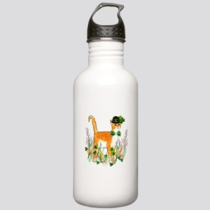 St. Patrick's Day Cat Stainless Water Bottle 1.0L