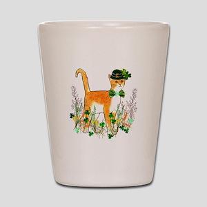 St. Patrick's Day Cat Shot Glass