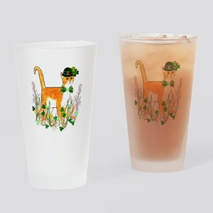 St. Patrick's Day Cat Drinking Glass