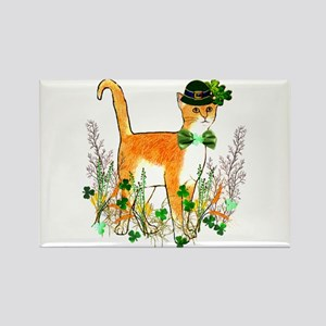 St. Patrick's Day Cat Rectangle Magnet