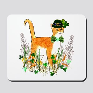 St. Patrick's Day Cat Mousepad