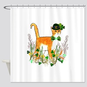 St. Patrick's Day Cat Shower Curtain