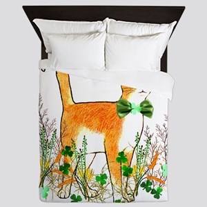 St. Patrick's Day Cat Queen Duvet