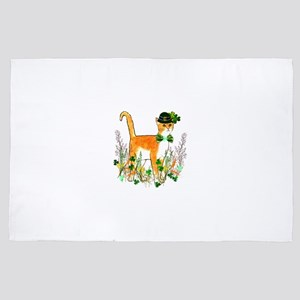 St. Patrick's Day Cat 4' x 6' Rug