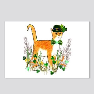 St. Patrick's Day Cat Postcards (Package of 8)