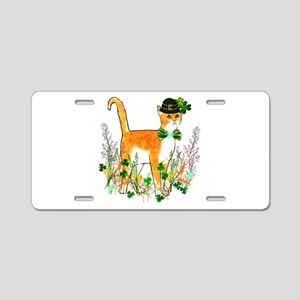 St. Patrick's Day Cat Aluminum License Plate