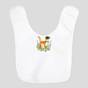 St. Patrick's Day Cat Polyester Baby Bib