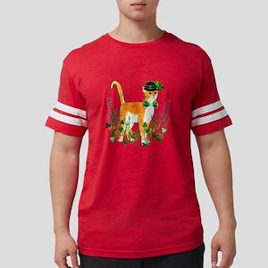 St. Patrick's Day Cat Mens Football Shirt
