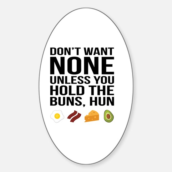 Unique Bacon and eggs Sticker (Oval)