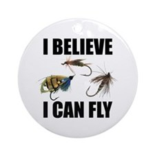 I Believe I Can Fly Round Ornament