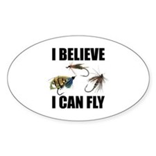 I Believe I Can Fly Sticker (Oval)