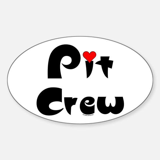 Pit Crew Oval Decal