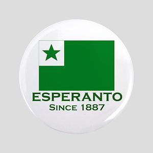 """Esperanto since 1887 3.5"""" Button"""